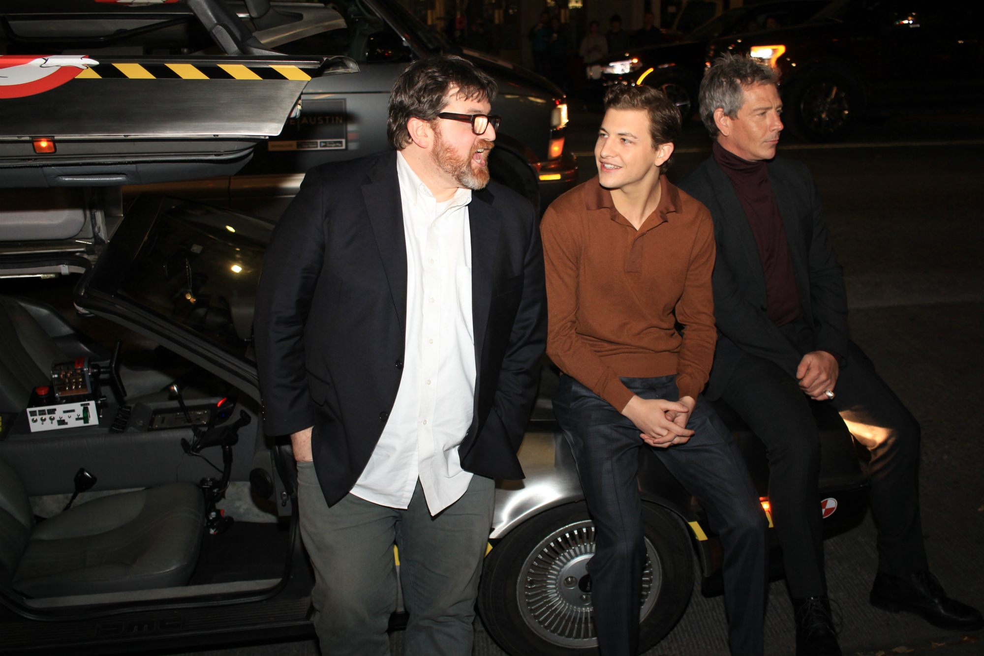 Ernest Cline, Tye Sheridan, and Ben Mendelsohn // Ready Player One, photo by Heather Kaplan