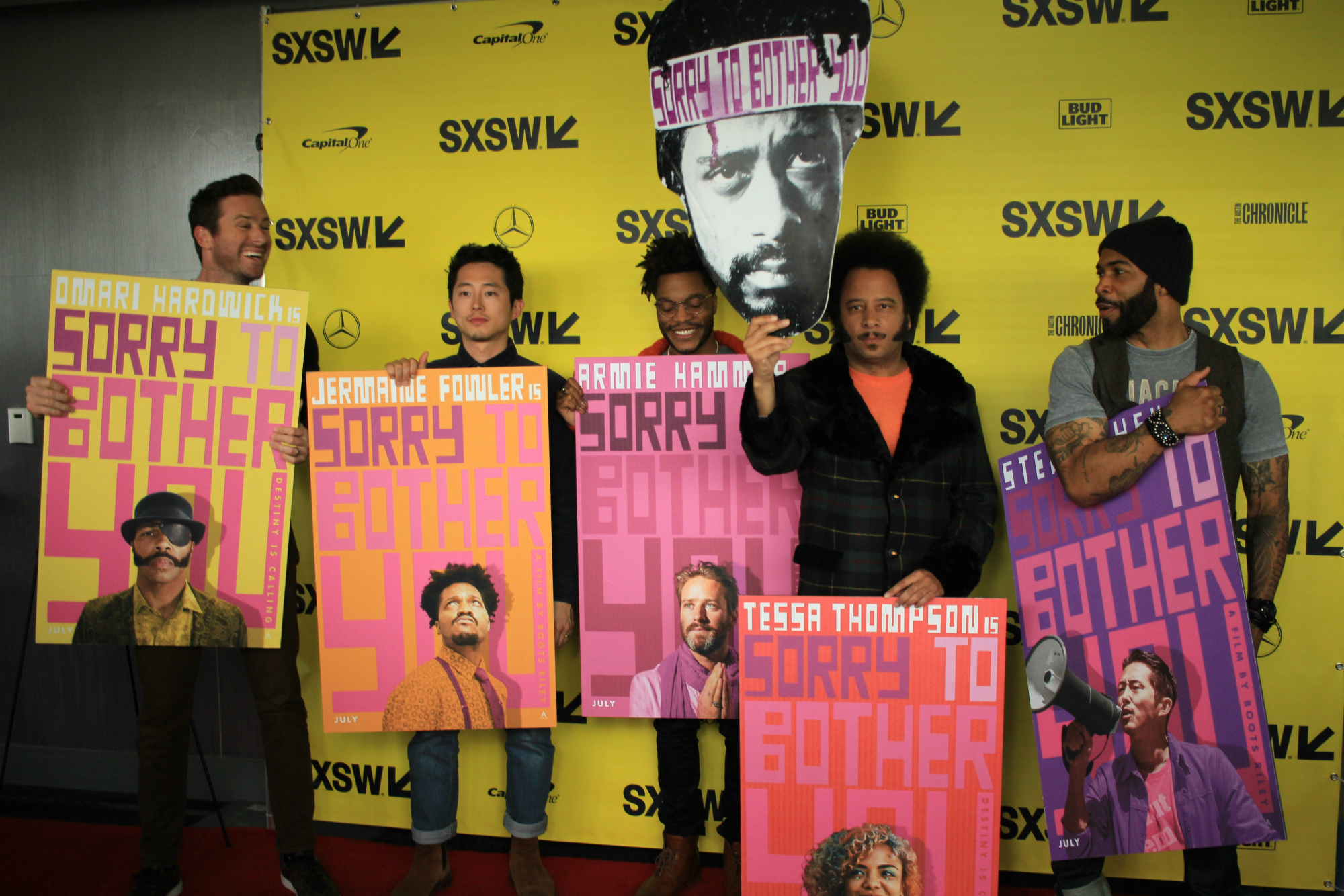 Cast and Crew of Sorry to Bother You, photo by Heather Kaplan