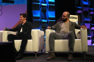 James Marsden and Jeffrey Wright // Westworld, photo by Heather Kaplan