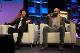 James Marsden and Jeffrey Wright James Marsden and Jeffrey Wright // Westworld, photo by Heather Kaplan