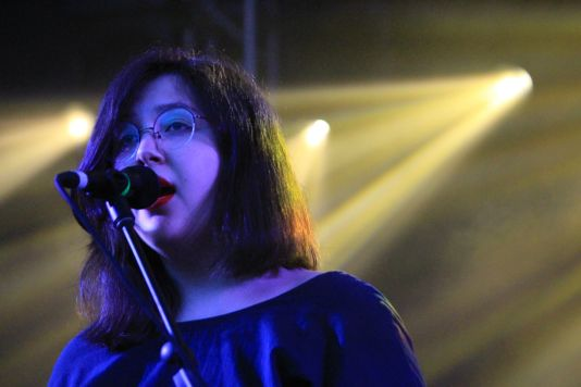 Lucy Dacus // NPR Showcase at Stubb's, photo by Heather Kaplan