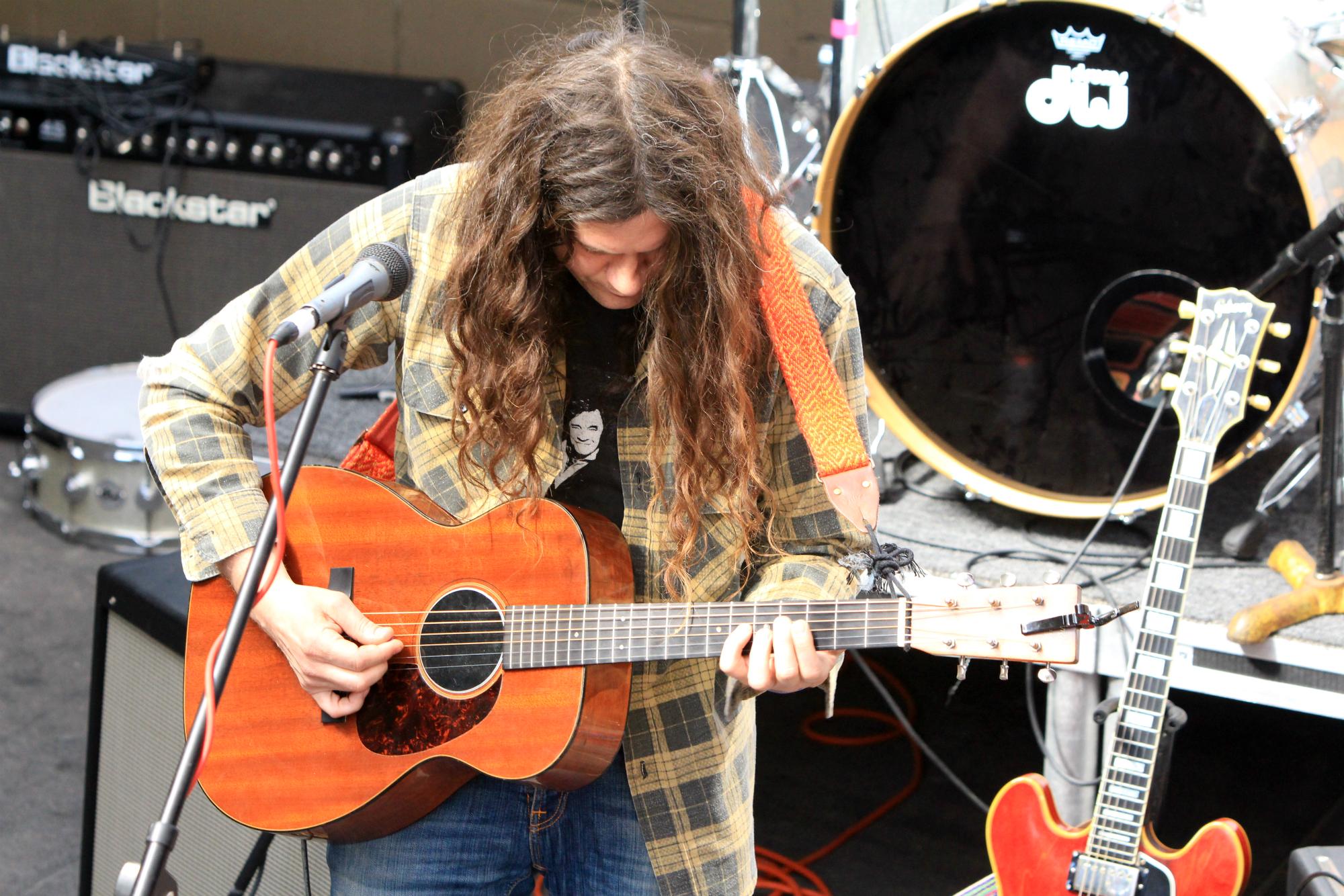 Kurt Vile // FLOODfest at Cedar Street Courtyard, photo by Heather Kaplan