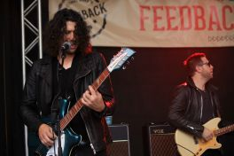 Dr. Pepper's Jaded Hearts Club Band // Rachael Ray's Feedback at Stubb's BBQ, photo by Heather Kaplan