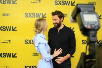 Emily Blunt and John Krasinski // A Quiet Place, photo by Heather Kaplan