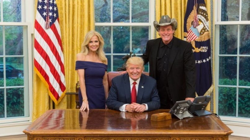 Ted Nugent with Donald Trump