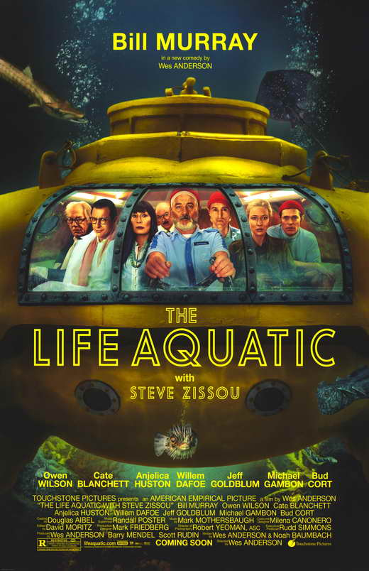 the life aquatic with steve zissou movie poster 2004 1020237005 Ranking: Every Wes Anderson Movie from Worst to Best