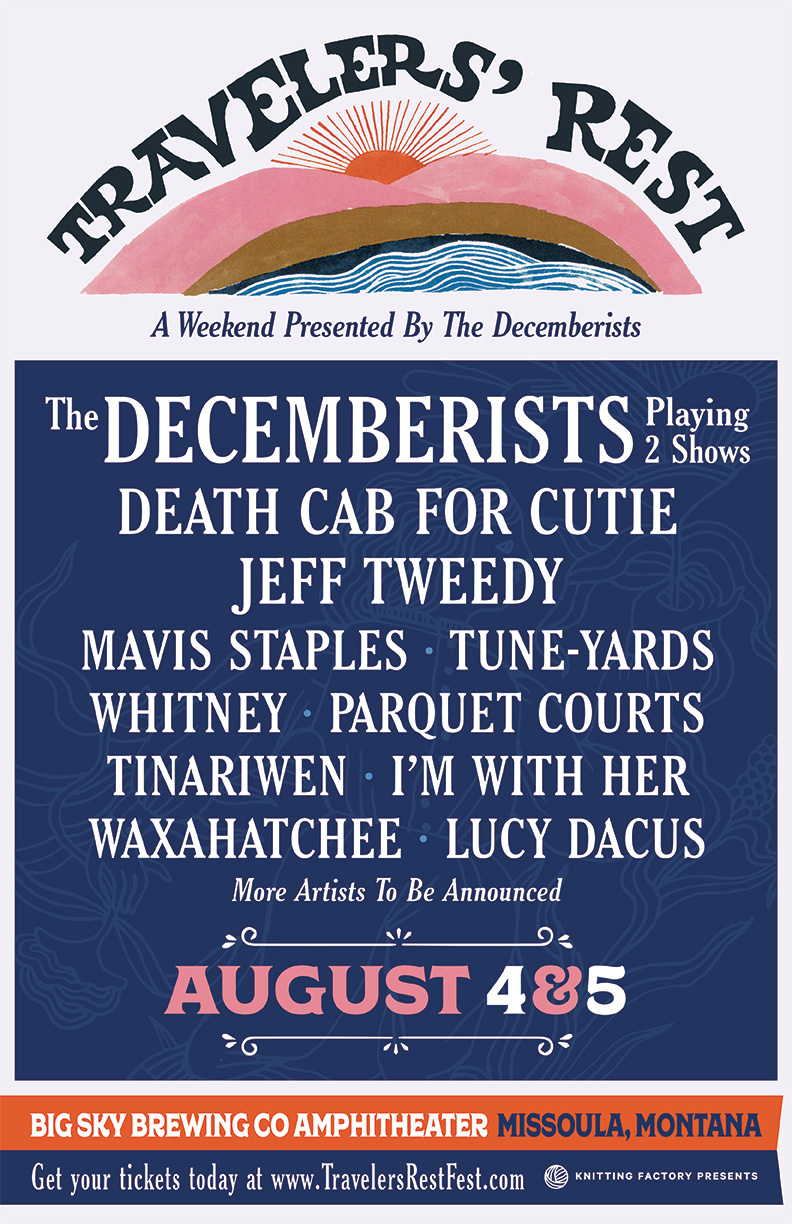 travelers rest1 The Decemberists announce 2018 edition of Travelers Rest Festival