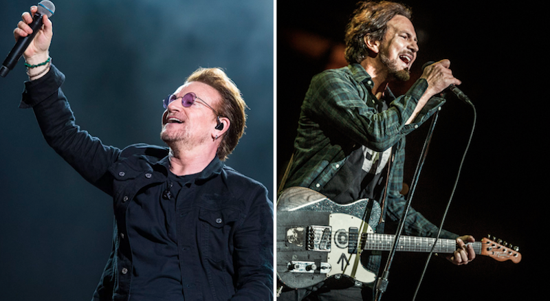 eddie vedder covers u2 s bad in brazil watch consequence of sound. Black Bedroom Furniture Sets. Home Design Ideas