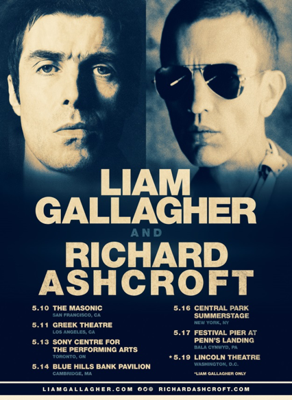 unnamed 19 Britpop legends Liam Gallagher and Richard Ashcroft team up for US tour
