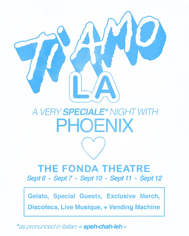 unnamed 3 Phoenix announce Los Angeles residency