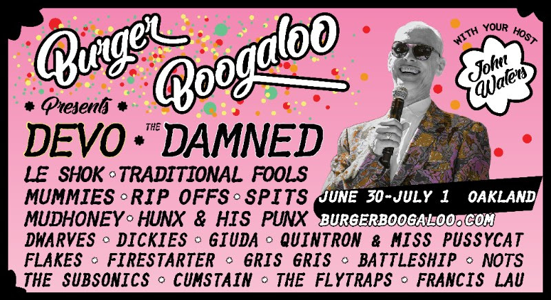 unnamed 43 Burger Boogaloo reveals 2018 lineup: Devo, The Damned, Ty Segalls Traditional Fools, and more