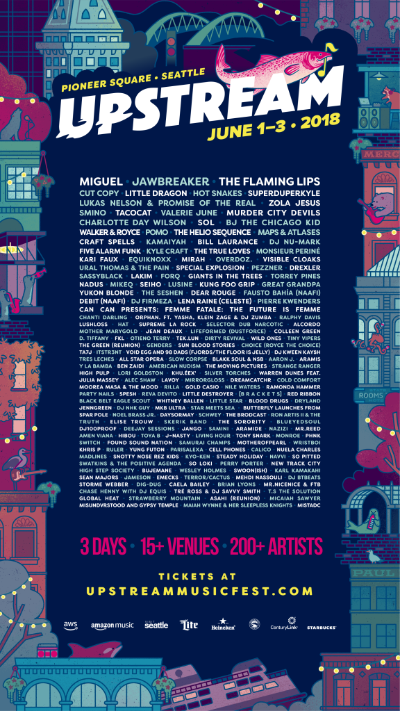 upstream general 1080x1920 Upstream Music Fest + Summit reveals 2018 lineup, including Consequence of Sound showcase