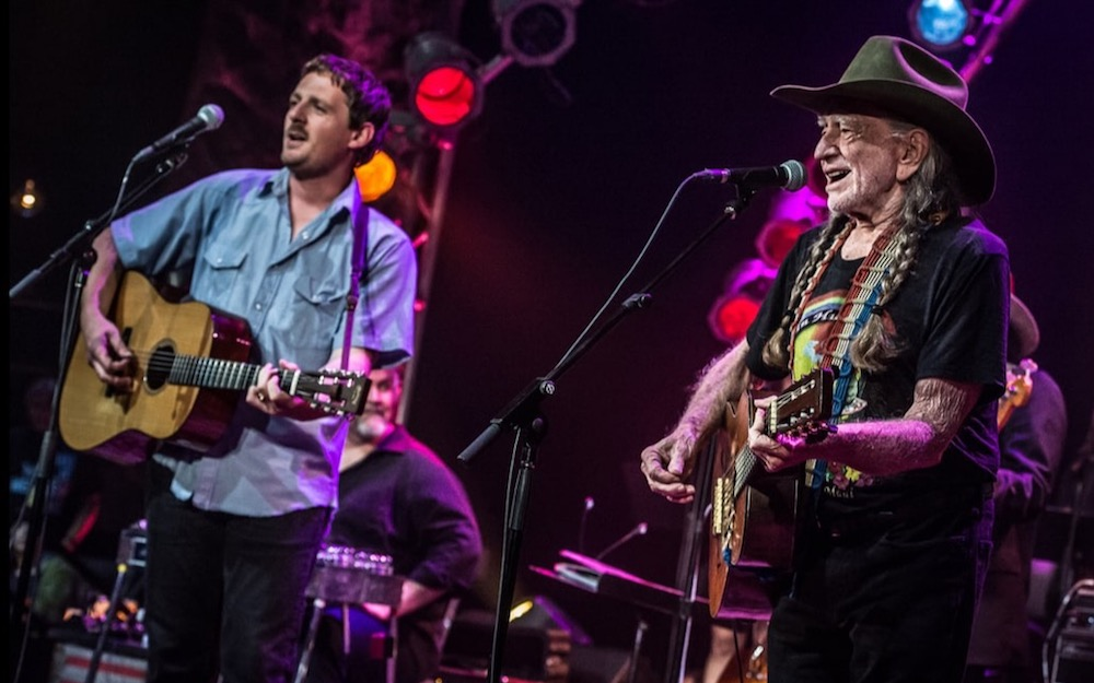 Sturgill Simpson and Willie Nelson, photo by Joshua Timmermans