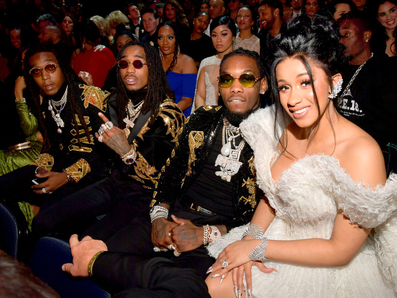 Cardi B and Migos, photo by Lester Cohen