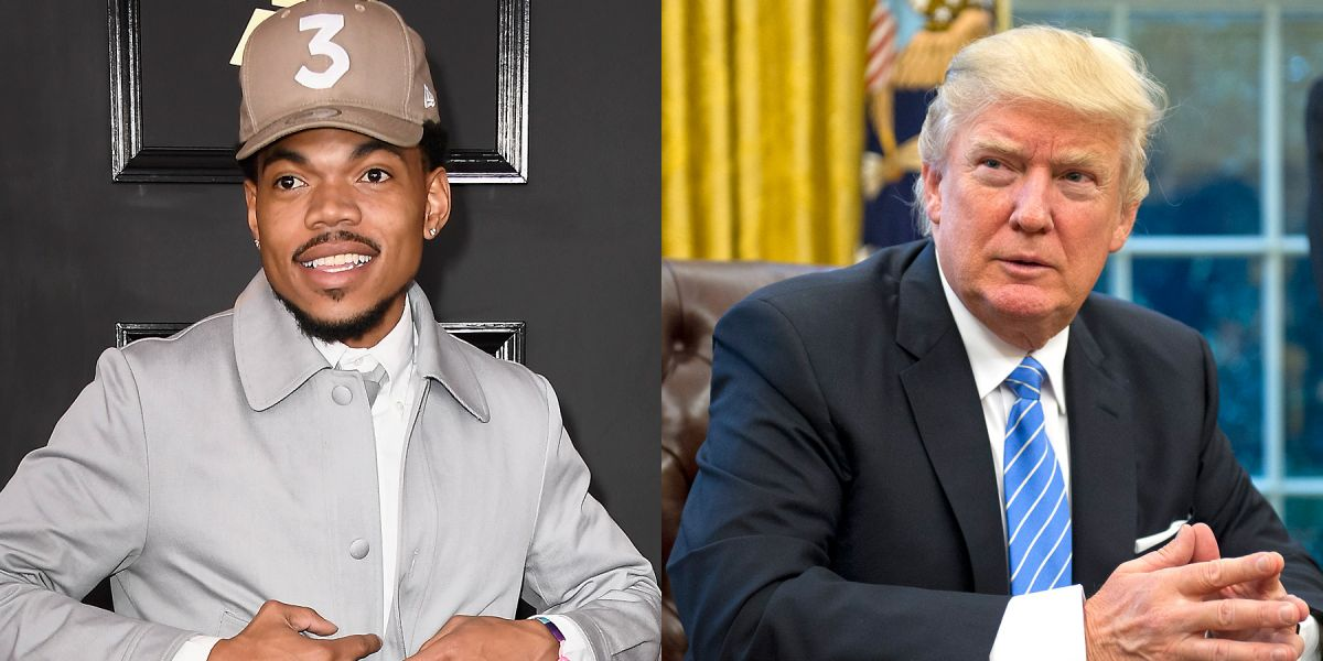 Chance the Rapper and Donald Trump