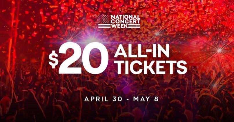 Live Nation's National Concert Week promotion