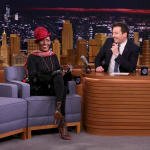 Grace Jones and Jimmy Fallon, photo by Andrew Lipovsky/NBC