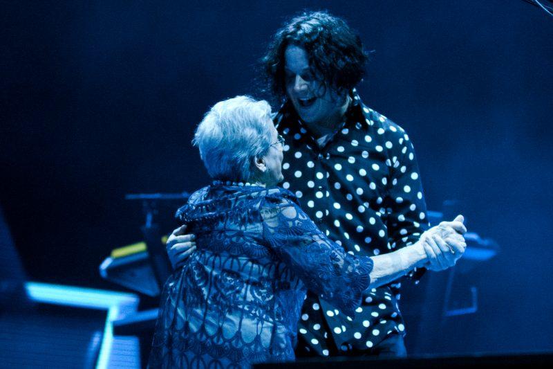 Jack White with his mother, Teresa Gillis
