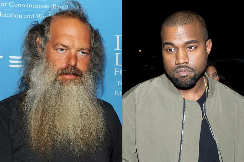 Kanye West and Rick Rubin