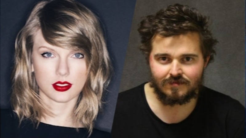 Taylor Swift and bank robber Bruce Rowley, mug shot via Ansonia Police