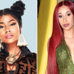 Nicki Minaj and Cardi B, right photo by Tim Mosenfelder