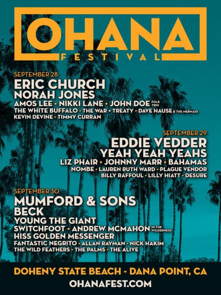 Ohana Fest 2018 Lineup
