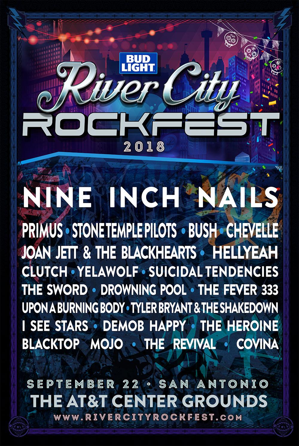 rockfest 20181 Nine Inch Nails to headline San Antonios River City Rockfest in 2018