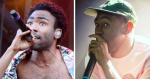 Childish Gambino (photo by Heather Kaplan) and Tyler, the Creator (photo by Autumn Andel)