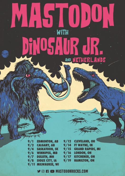 Mastodon with Dinosaur Jr. Tour