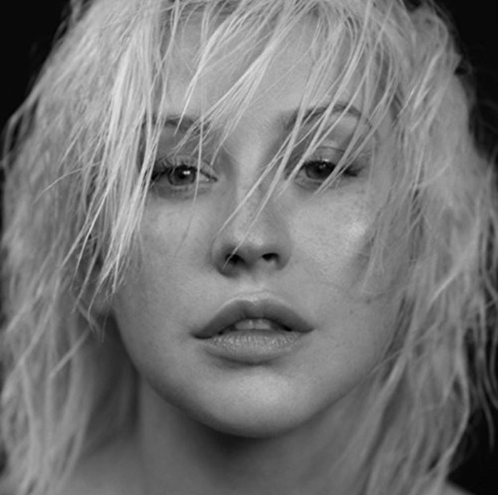 Christina Aguilera Liberation Artwork Grey Black and White