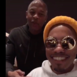 Anderson Paak and Dr Dre appearing together in Instagram live stream