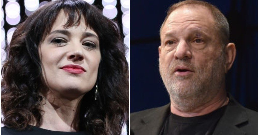 Asia Argento and her alleged rapist, Harvey Weinstein