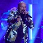Common, Robert Glasper, and Karriem Riggins perform as August Greene on Seth Meyers