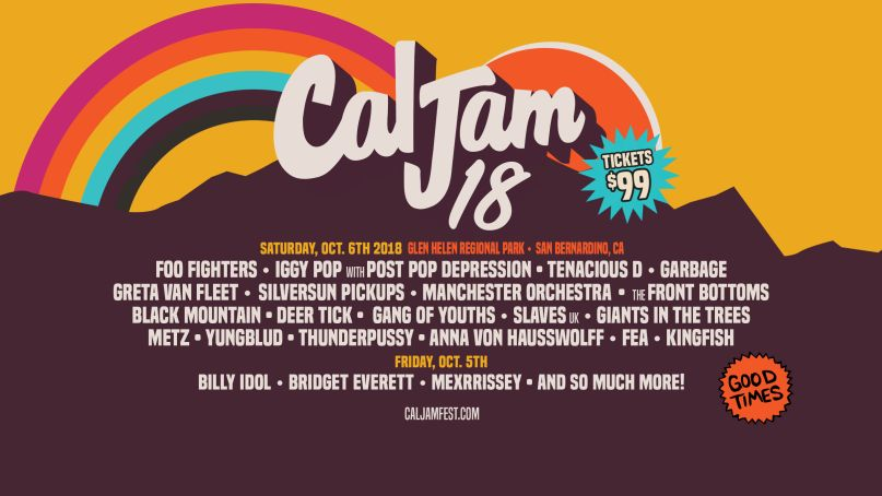 CalJam18 Lineup Poster Win Tickets