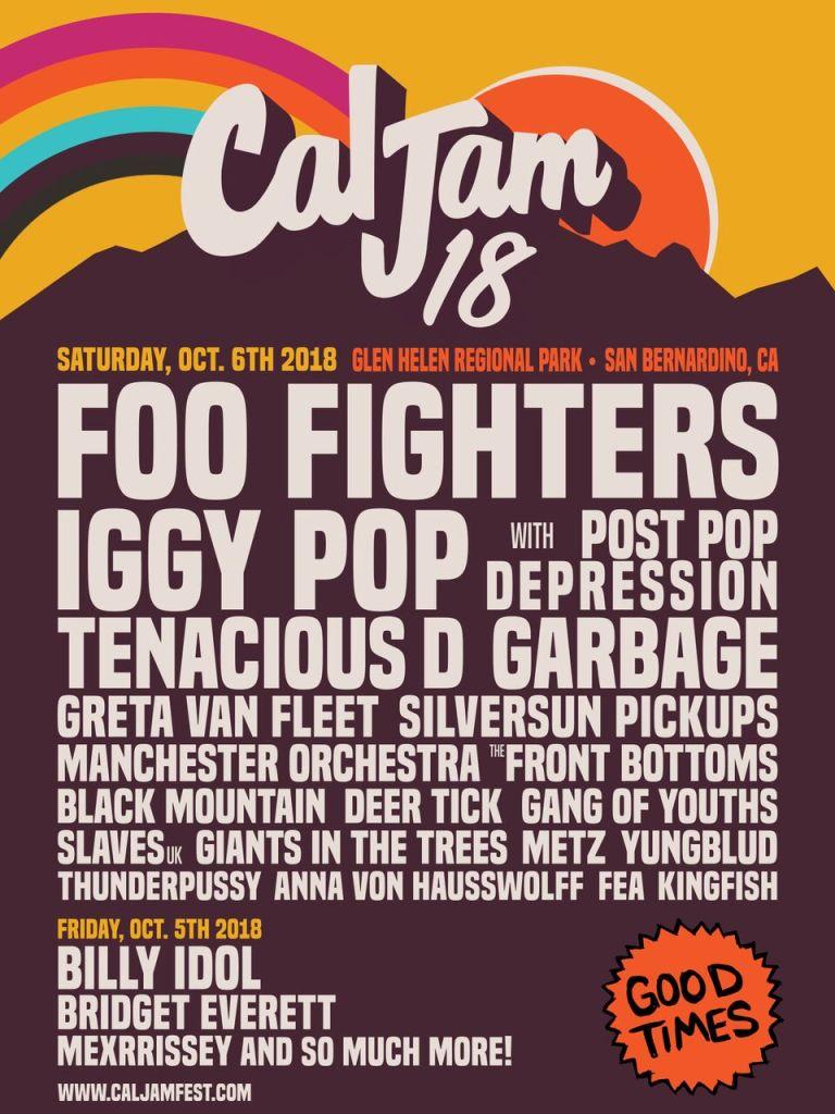 Foo Fighters Cal Jam 2018 Lineup Poster