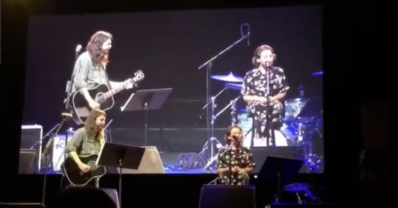 Foo Fighters' Dave Grohl with daughter Violet Grohl