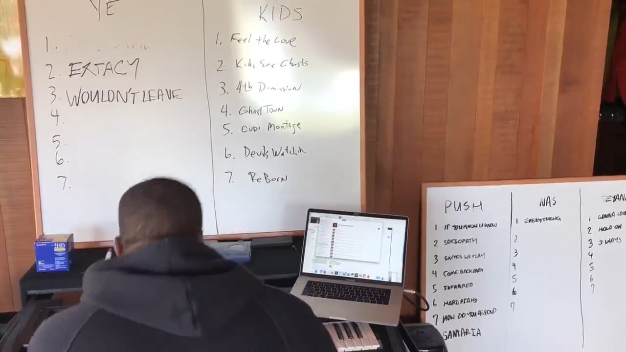 Kanye West New Albums 2018 Tracklists Pusha T Kid Cudi Nas