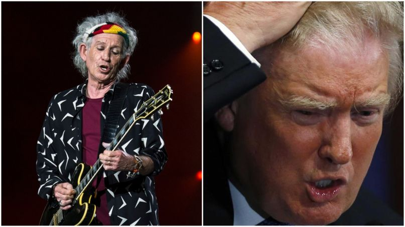 keith richards donald trump rolling stones
