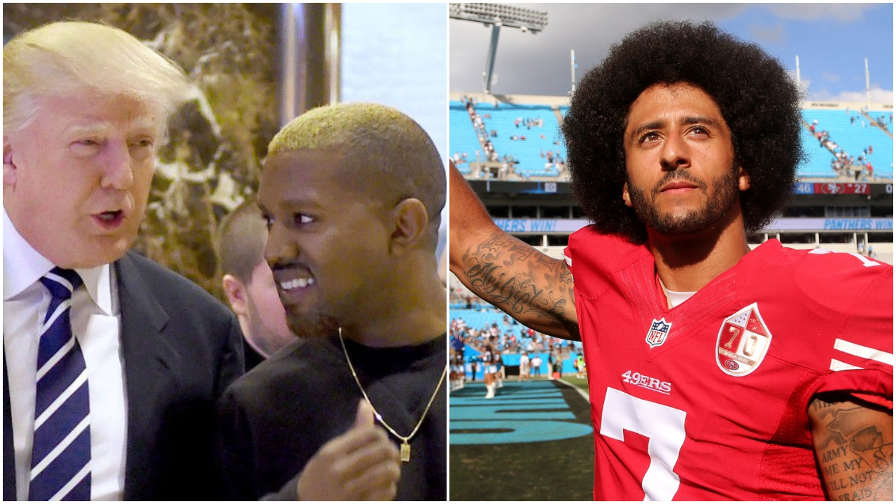Donald Trump, Kanye West, and Colin Kaepernick