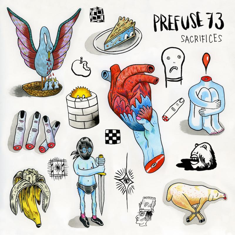 Prefuse 73 Sacrifices Album Artwork Drawings