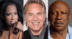 Watchmen cast members Regina King, Don Johnson, and Louis Gossett Jr.