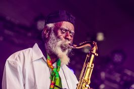 Pharoah Sanders, photo by Debi Del Grande