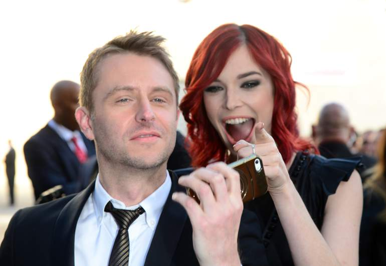 Chris Hardwick and Chloe Dykstra