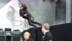 Foo Fighters fake stage fall