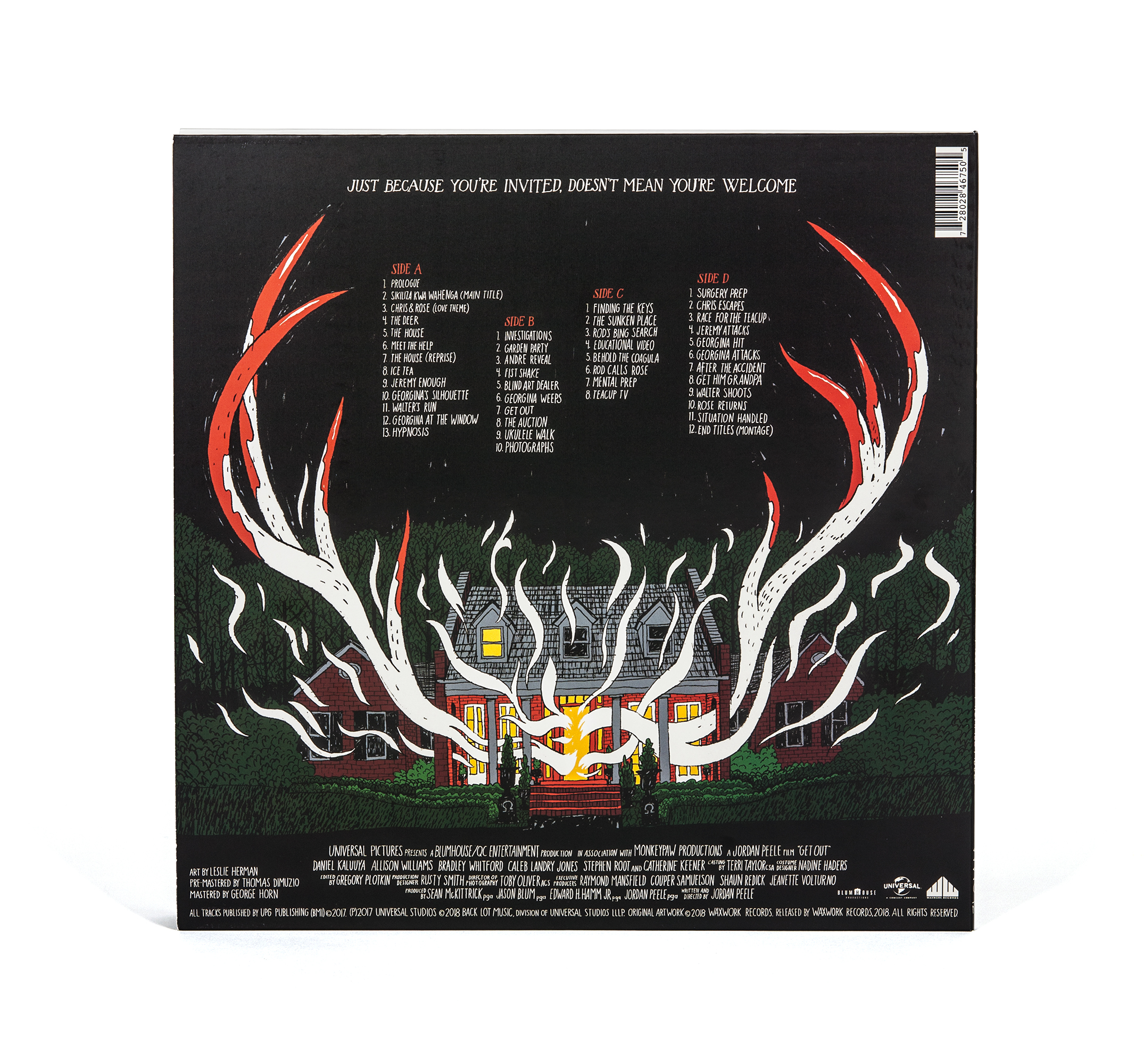 Get Out Waxwork Records Deluxe Vinyl Back Cover