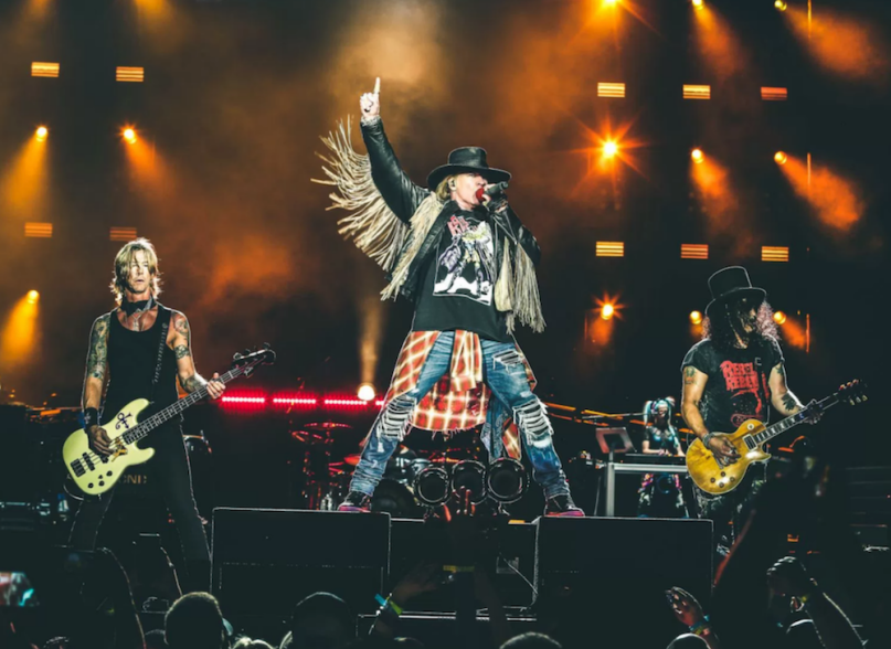 """Guns N' Roses perform """"Shadow of Your Love"""" Denmark video"""