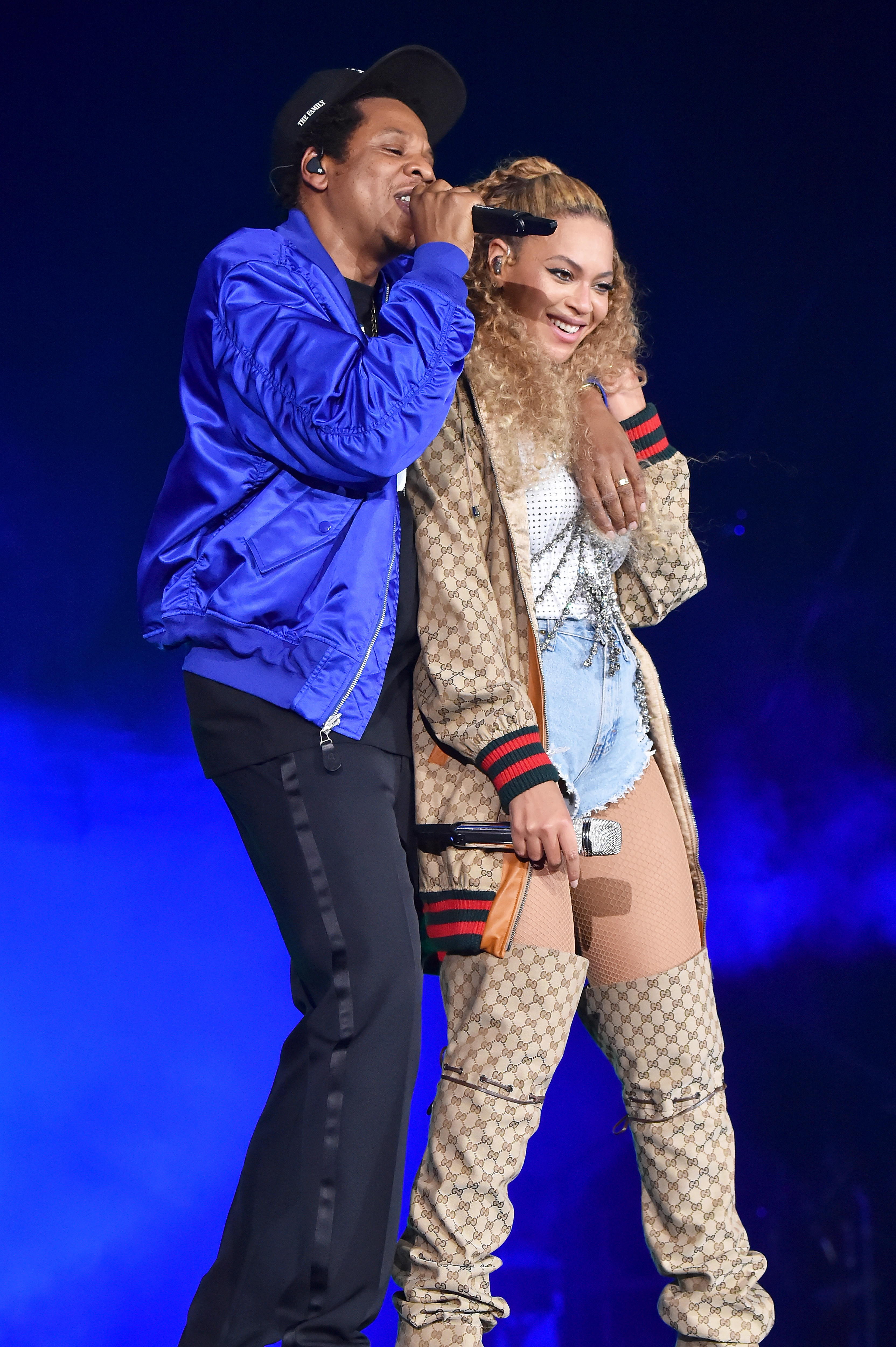 "Beyonce and Jay-Z ""On the Run II"" Tour Opener - Cardiff Blue Duet Boots Hair"
