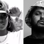 Kamaiyah and ScHoolboy Q black and white side by side hats