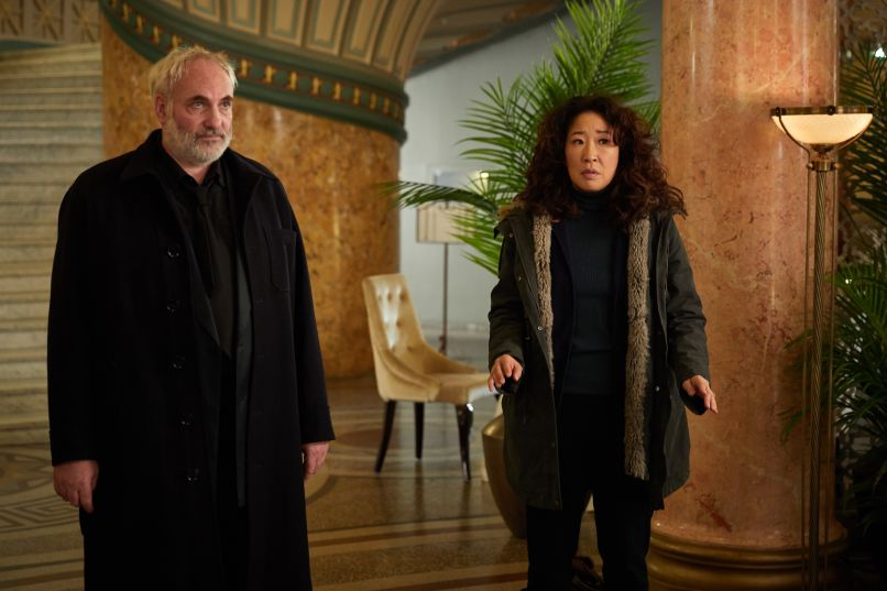 Kim Bodnia Sandra Oh Killing Eve God I'm Tired BBC America