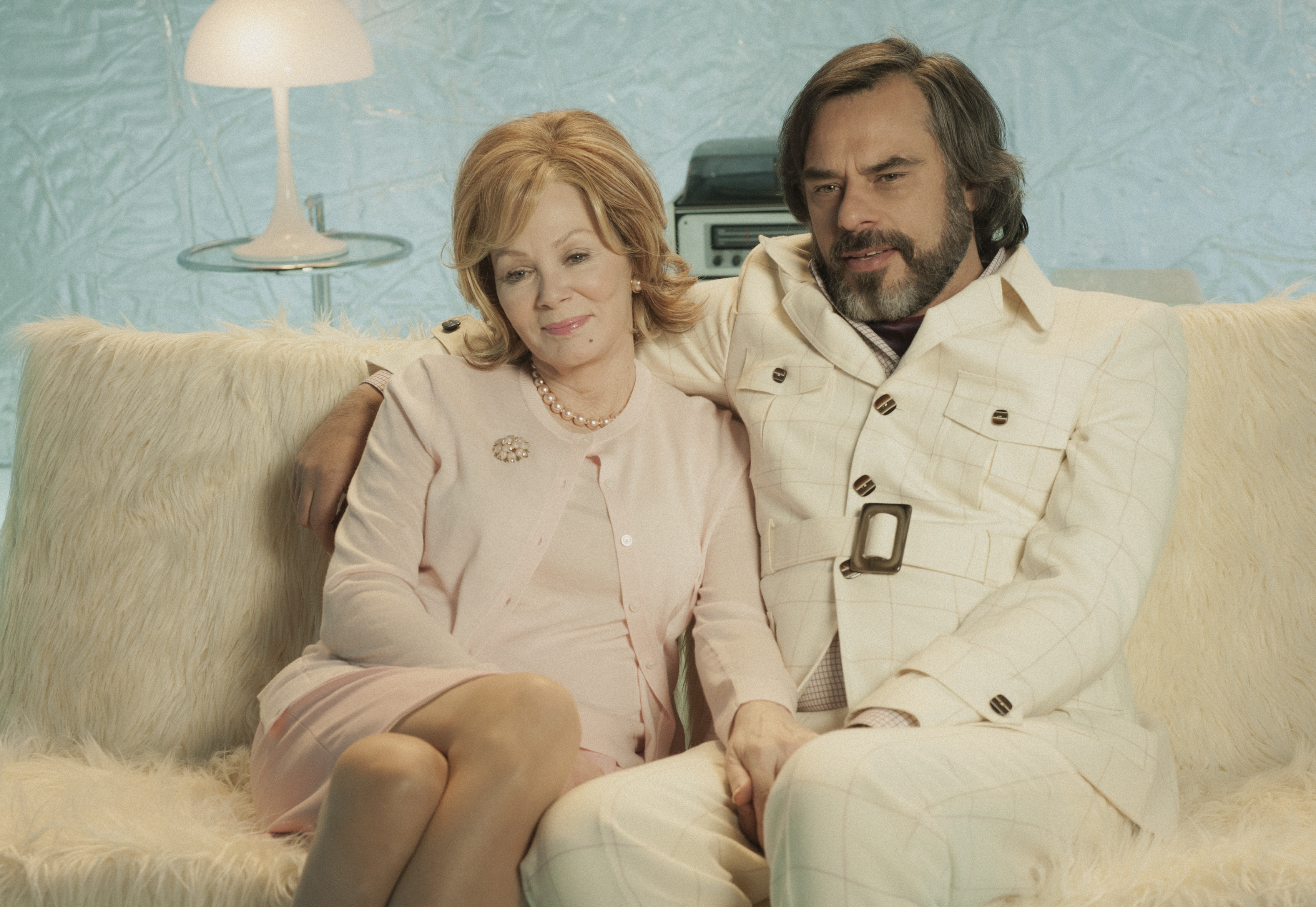 Legion Jean Smart Jemaine Clement FX Chapter 19 tan blue couch couple